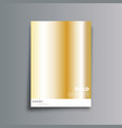 gold gradient cover background for banner vector image vector image