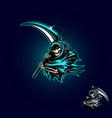 grim reaper or angel death vector image vector image