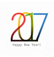 Happy New Year 2017 On white paper Design element