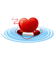 heart in the lifebuoy concept image vector image