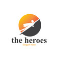 heroes fly moon logo designs simple vector image