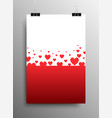 i love you falling heart valentines day vector image