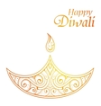 Indian festival Diwali greeting card design vector image vector image