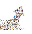 large group of people in the shape vector image vector image