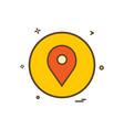 location basic icon design vector image vector image
