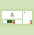 logo design template with fruit and vegetable in vector image
