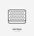 mattress flat line icon top view bedding sign vector image