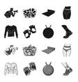 men torso gymnastic gloves jumping ball vector image vector image