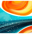 minimal curve liquid spark wave background with vector image vector image