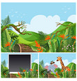 mountain scenes with wild animals vector image vector image