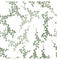 natural leaves seamless pattern background vector image vector image
