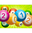 new year bingo vector image vector image