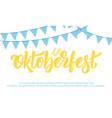 oktoberfest banner design for german beer vector image