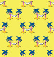 palm trees with hammocks seamless summer vector image vector image