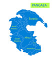 pangaea or pangea of vector image