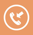 phone icon flat design style eps10 vector image