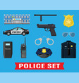 police equipment set vector image vector image