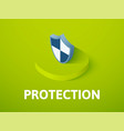 protection isometric icon isolated on color vector image vector image