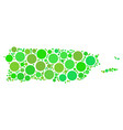 puerto rico map collage of circles vector image
