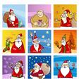 santa claus cards set vector image