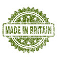 scratched textured made in britain stamp seal vector image vector image