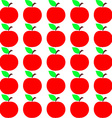 Seamless Apple Texture Autumn Fruit Background vector image vector image
