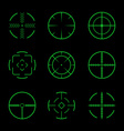 Set of crosshairs target icons