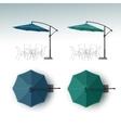 Set of Outdoor Beach Cafe Restaurant Umbrella vector image vector image