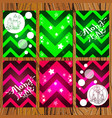 set of seamless patterns in the form of zigzags vector image vector image