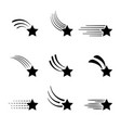 Shooting stars icons isolated on white background