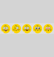 smile face banner with happy eye emotion vector image