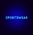 sportswear neon text vector image