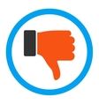 Thumb Down Icon vector image vector image