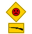 traffic sign bad smiley for shooting vector image vector image