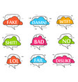 trendy speech bubble isolated set vector image vector image