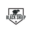 vintage black sheep logo design inspiration vector image vector image