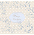 Vintage Invitation with ornaments vector image vector image