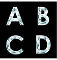 Diamond letters Alphabet available in portfolio vector image