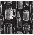 Beer seamless pattern Beer glass mug vector image