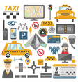 Taxi icon Flat design vector image