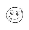 sketch emoticon smiley face cartoon vector image