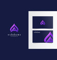 a ash dome logotype with business card template vector image vector image