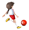 A soccer player from Turkey vector image vector image