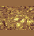 abstract golden scales background with geometric vector image vector image