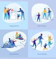 active sportive family enjoy christmas vacation vector image vector image