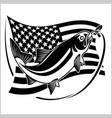 american usa flag tarpon vector image