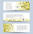 banners set of white textured rectangle vector image