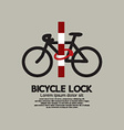 Bicycle Lock Pole vector image vector image