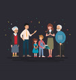 big family portrait vector image vector image