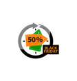 black friday discount 50 percentage vector image vector image